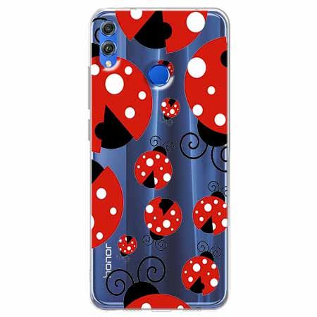 Etui na Huawei Honor 8X - Czerwone  biedronki.