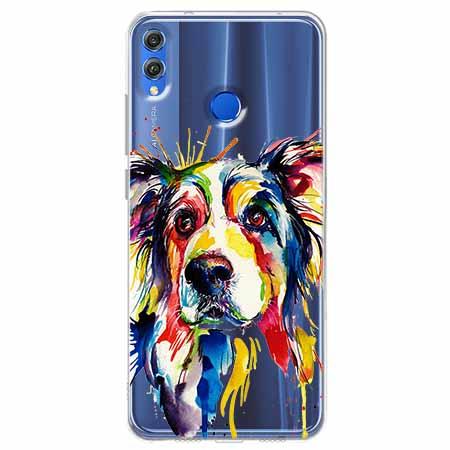 Etui na Huawei Honor 8X - Watercolor pies.