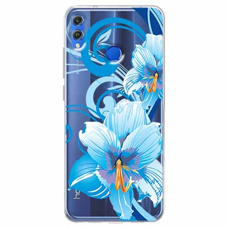 Etui na Huawei Honor 8X - Niebieski kwiat północy.