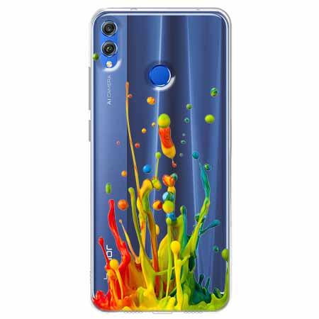 Etui na Huawei Honor 8X - Kolorowy splash.