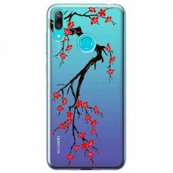 Etui na Huawei P Smart 2019 - Krzew kwitnącej wiśni.