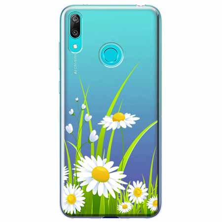 Etui na Huawei P Smart 2019 - Polne stokrotki.