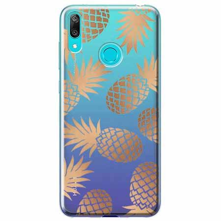 Etui na Huawei P Smart 2019 - Złote ananasy.