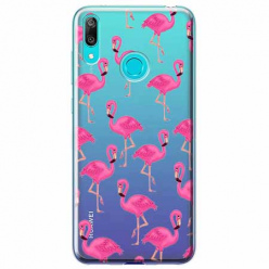 Etui na Huawei P Smart 2019 - Różowe flamingi.