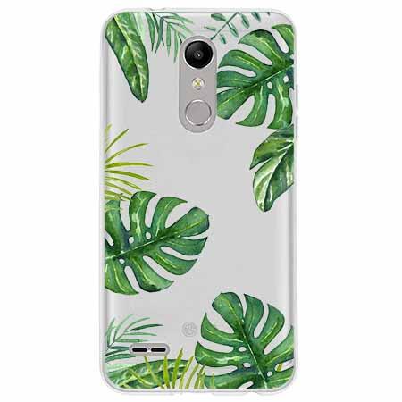 Etui na LG K11 - Zielone liście palmowca