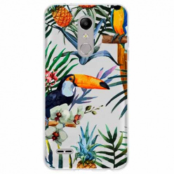 Etui na LG K11 - Egzotyczne tukany.