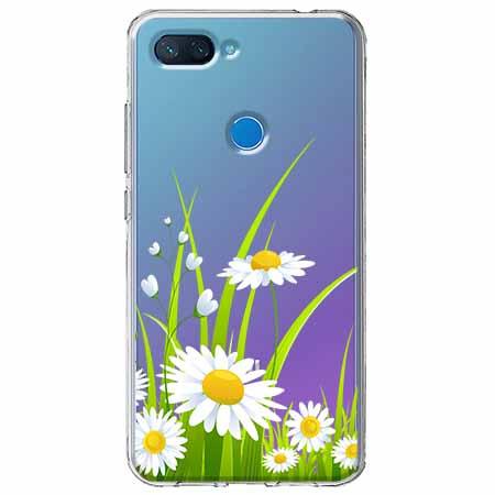 Etui na Xiaomi Mi 8 Lite - Polne stokrotki.