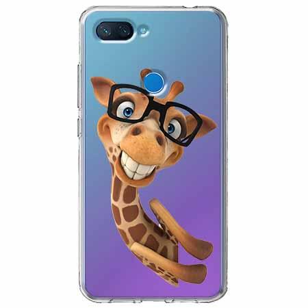 Etui na Xiaomi Mi 8 Lite - Żyrafa w okularach.