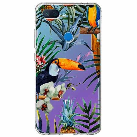 Etui na Xiaomi Mi 8 Lite - Egzotyczne tukany.