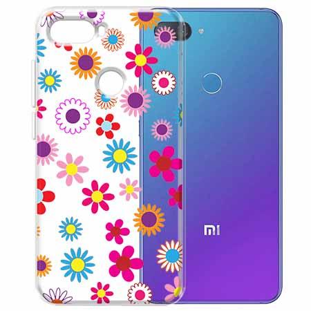 Etui na Xiaomi Mi 8 Lite - Kolorowe stokrotki.