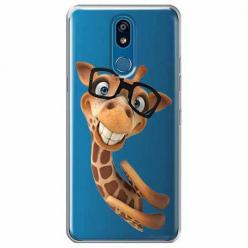 Etui na LG K40 - Żyrafa w okularach.