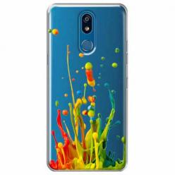 Etui na LG K40 - Kolorowy splash.