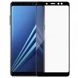 Galaxy A6 Plus hartowane szkło 5D Full Glue - Czarny