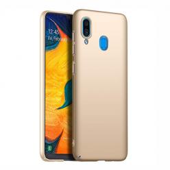 Etui na telefon Samsung Galaxy A20 - Slim MattE - Złoty.