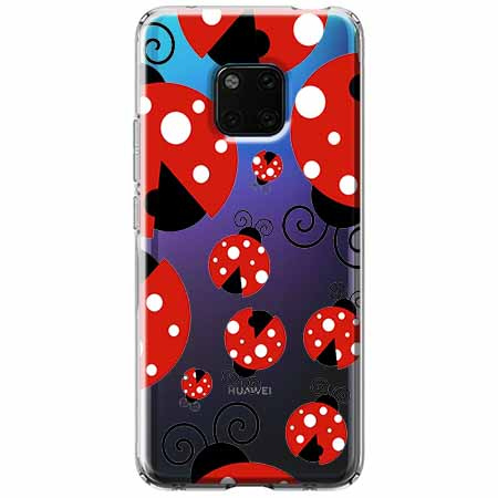 Etui na Huawei Mate 20 Pro - Czerwone  biedronki.