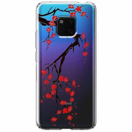 Etui na Huawei Mate 20 Pro - Krzew kwitnącej wiśni.