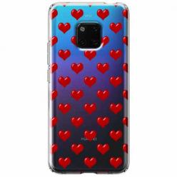 Etui na Huawei Mate 20 Pro - Czerwone serduszka.