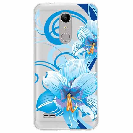 Etui na LG K10 2018 - Niebieski kwiat północy.