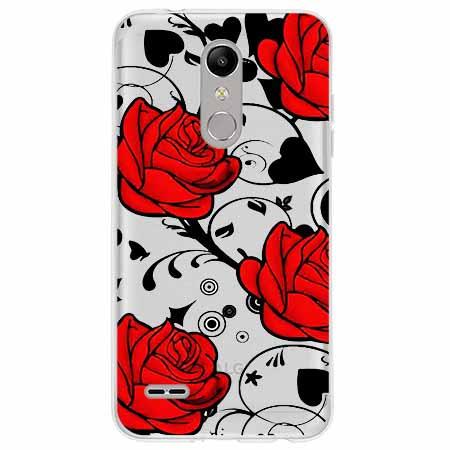 Etui na LG K10 2018 - Czerwone róże.