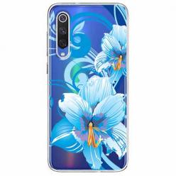 Etui na Xiaomi Mi 9 - Niebieski kwiat północy.