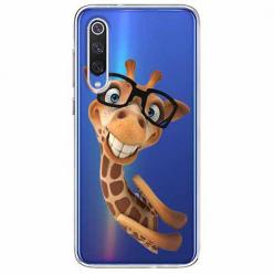 Etui na Xiaomi Mi 9 - Żyrafa w okularach.