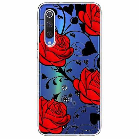 Etui na Xiaomi Mi 9 - Czerwone róże.