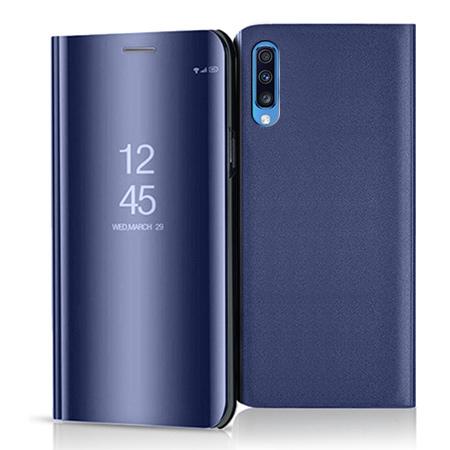 Etui na Samsung Galaxy A70 - Flip Clear View z klapką - Granatowy.