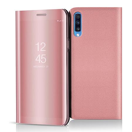 Etui na Samsung Galaxy A70 - Flip Clear View z klapką - Różowy.