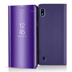 Etui na Samsung Galaxy A10 - Flip Clear View z klapką - Fioletowy.