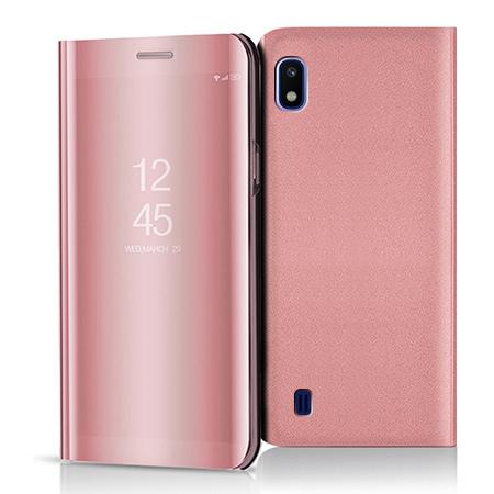 Etui na Samsung Galaxy A10 - Flip Clear View z klapką - Różowy.