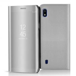 Etui na Samsung Galaxy A10 - Flip Clear View z klapką - Srebrny.
