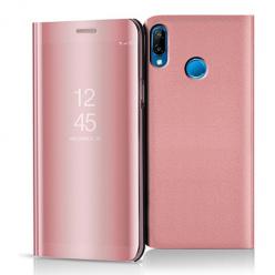 Etui na Huawei P20 Lite - Flip Clear View z klapką - Różowy.