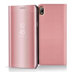 Etui na Huawei Y5 2019 - Flip Clear View z klapką - Różowy.