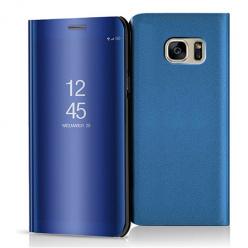 Etui na Samsung Galaxy S7 - Flip Clear View z klapką - Niebieski