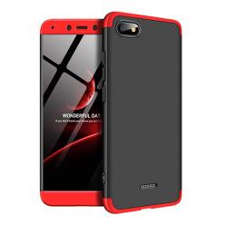 Etui na telefon Xiaomi Redmi 6A - Slim MattE 360 - Czarno/Czerwony.