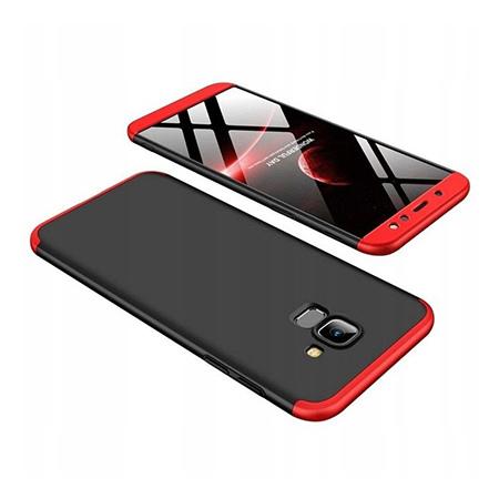 Etui na telefon Samsung Galaxy A6 2018 - Slim MattE 360 - Czarno/Czerwony.