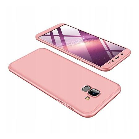 Etui na telefon Samsung Galaxy A6 2018 - Slim MattE 360 - Różowy.