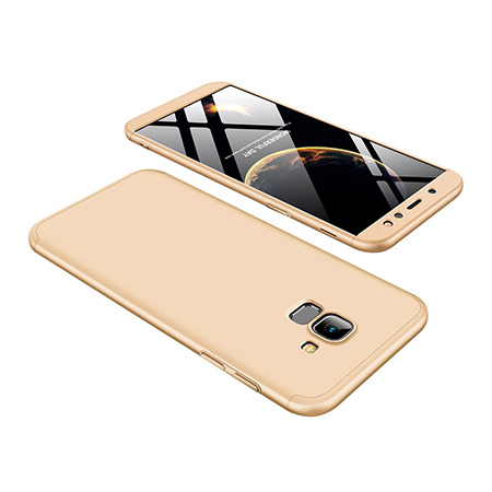 Etui na telefon Samsung Galaxy A6 2018 - Slim MattE 360 - Złoty.
