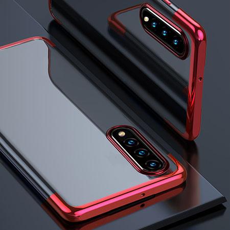 Etui na Galaxy A50 - platynowane SLIM - Czerwony