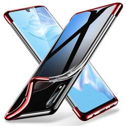 Etui na Huawei P30 Pro - platynowane SLIM - Czerwony