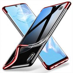 Etui na Galaxy A10 - platynowane SLIM - Czerwony