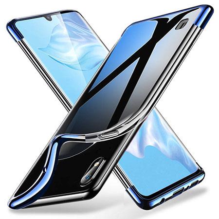 Etui na Galaxy A10 - platynowane SLIM - Niebieski
