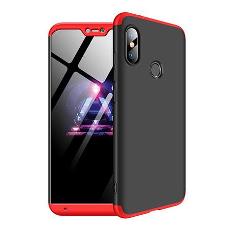 Etui na telefon Xiaomi Redmi Note 6 Pro - Slim MattE 360 - Czarno/Czerwony.