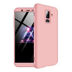 Etui na telefon Samsung Galaxy A6 Plus 2018 - Slim MattE 360 - Różowy.