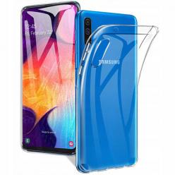 Samsung Galaxy A70 silikonowe etui przezroczyste crystal case.