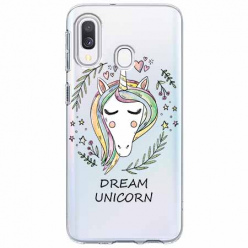 Etui na Samsung Galaxy A20e - Dream unicorn - Jednorożec.