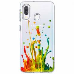 Etui na Samsung Galaxy A20e - Kolorowy splash.