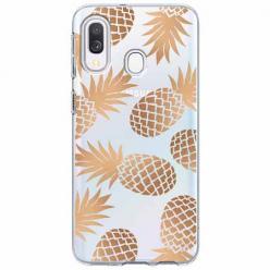 Etui na Samsung Galaxy A20e - Złote ananasy.