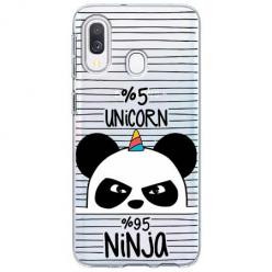 Etui na Samsung Galaxy A20e - Ninja Unicorn - Jednorożec.