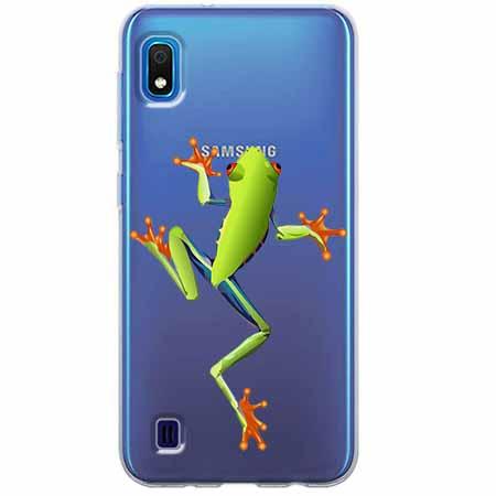 Etui na Samsung Galaxy A10 - Zielona żabka.